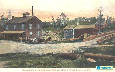 logging in city of neillsville, 1875
